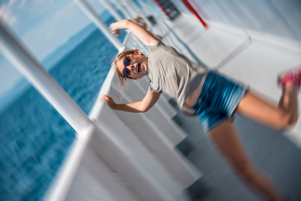 girl slipped in a cruise ship