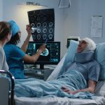 man at the hospital with brain injury